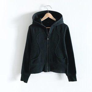 lululemon black scuba hoodie - size 4/6
